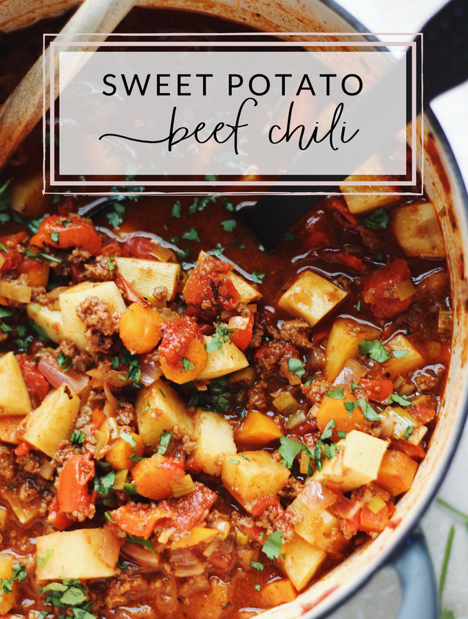 Sweet Potato Beef Chili