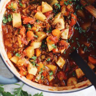 Whole30 Sweet Potato Beef Chili