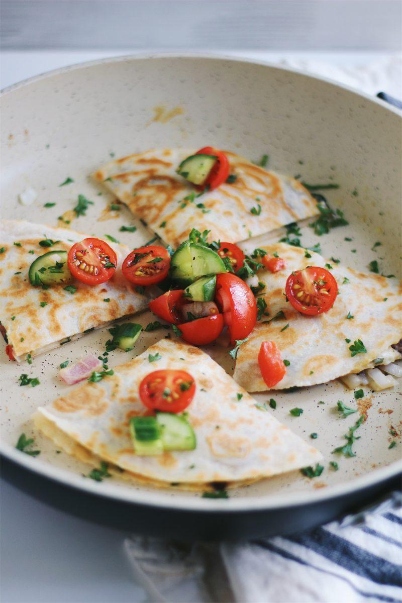 Mediterranean Quesadillas