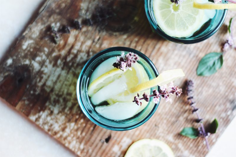 Blue Basil Whiskey Smash