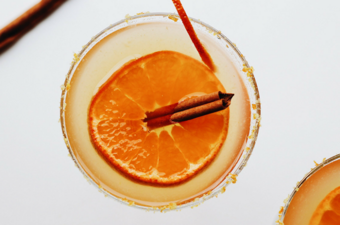 Spiced Honey Orange Margaritas