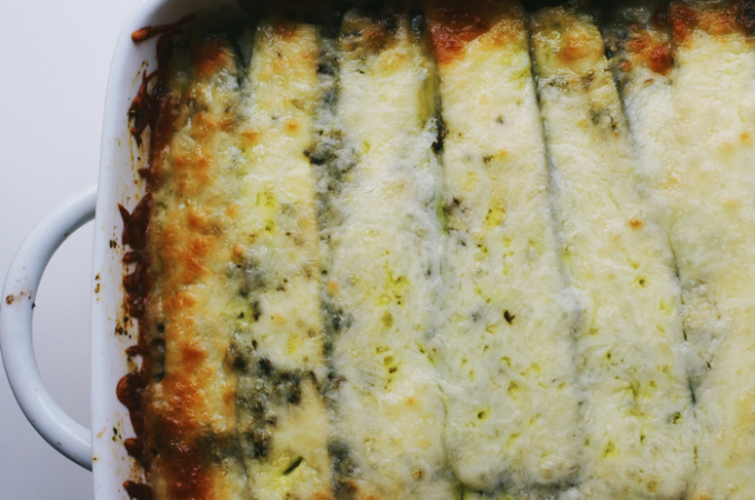 Gluten-Free Zucchini Lasagna with Pesto and Goat Cheese