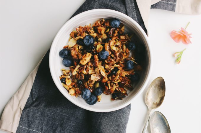 Superfood Grain-Free Granola with Wild Blueberries and Coconut