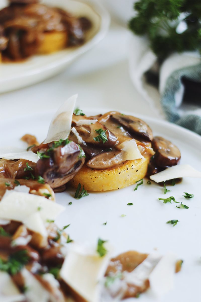 Polenta Rounds with Mushrooms