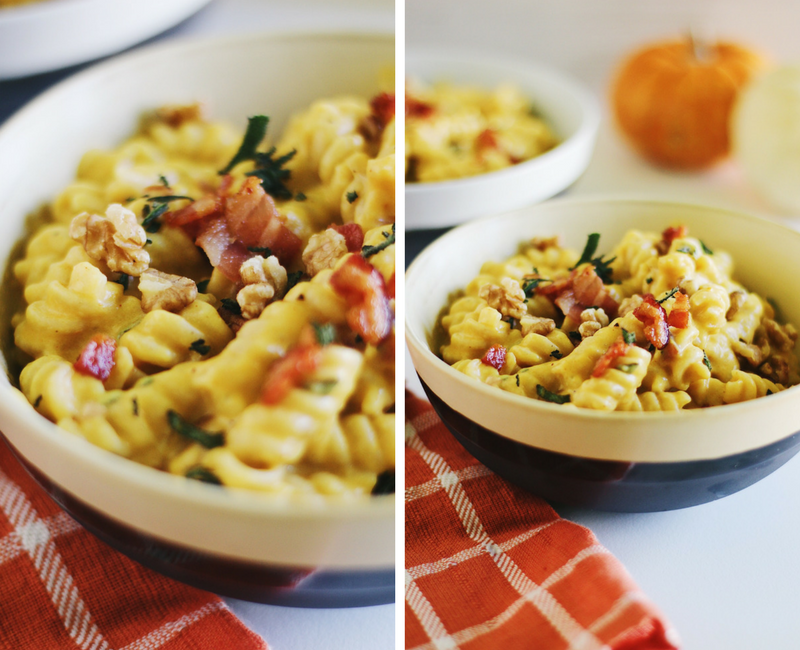 Pumpkin Bacon Mac and Cheese