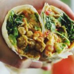 Chickpea and Goat Cheese Wraps