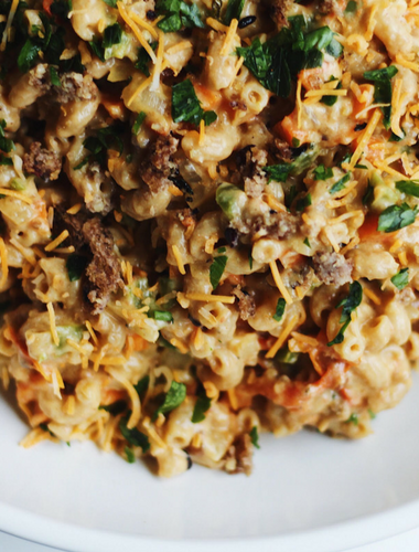Vegetarian Cheeseburger Macaroni