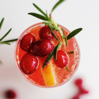 Cranberry Rosemary Champagne Cocktails