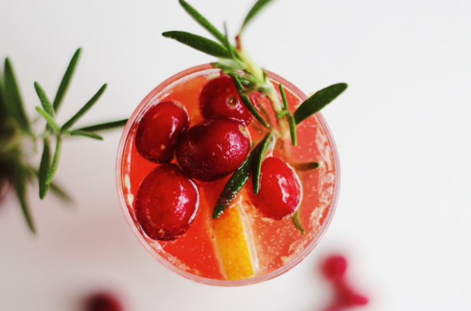 Citrus Cranberry Sparkling Cocktails