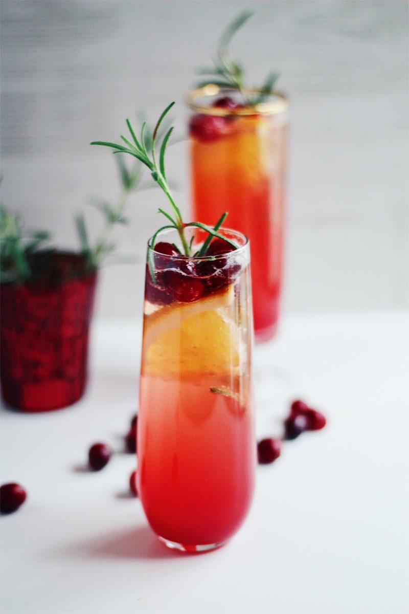 Citrus Cranberry Sparkling Cocktails