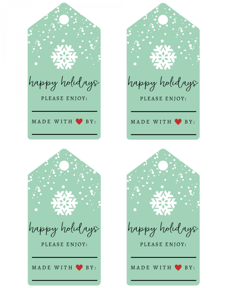 6 Edible Holiday Gifts (+ FREE Printable Labels!) - Parsnips and ...