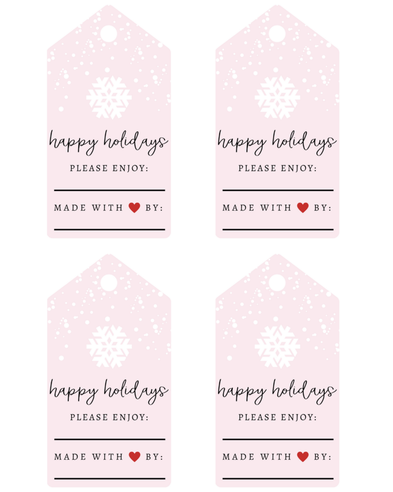 6 edible holiday gifts free printable labels parsnips and