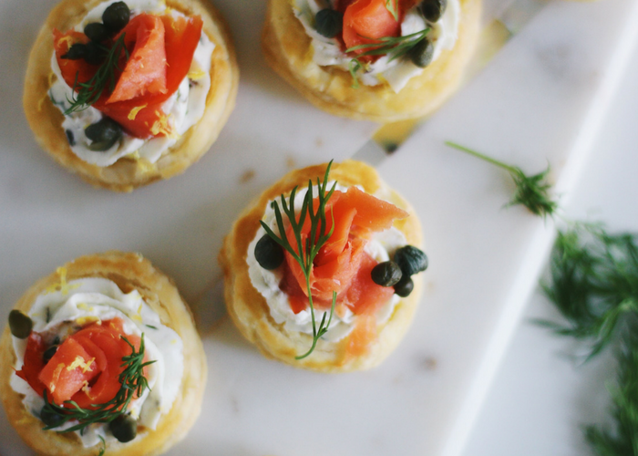 Goat Cheese Smoked Salmon Puff Pastry Bites Parsnips And