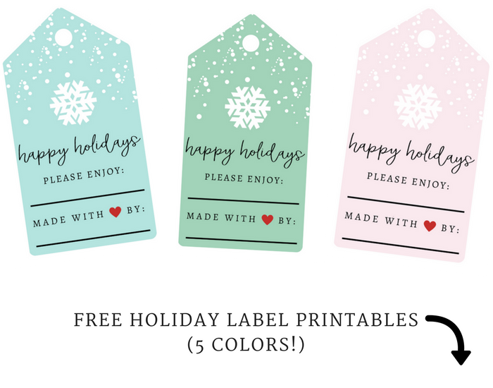free holiday label printables