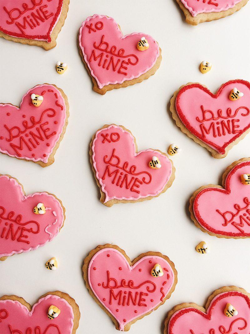 Honey Cardamom Heart Cookies