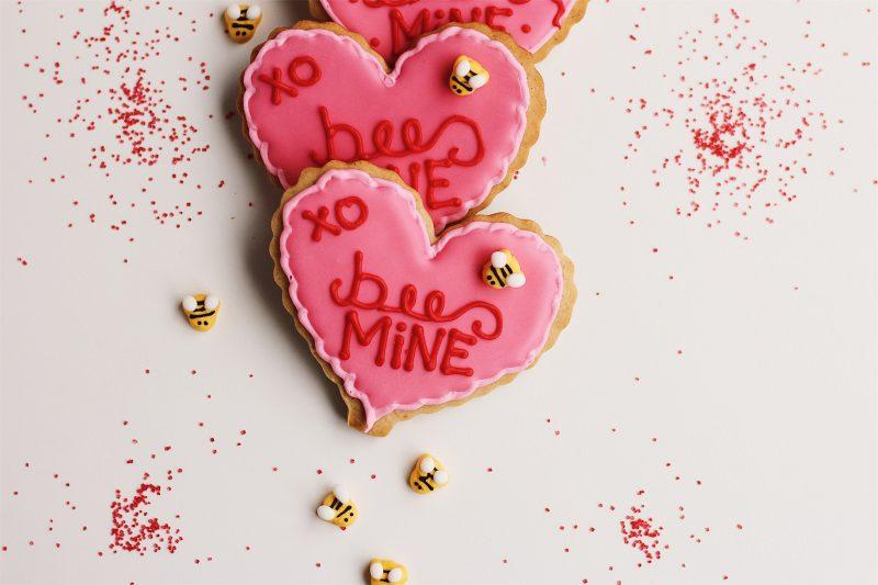 'Bee Mine' Honey Cardamom Heart Cookies