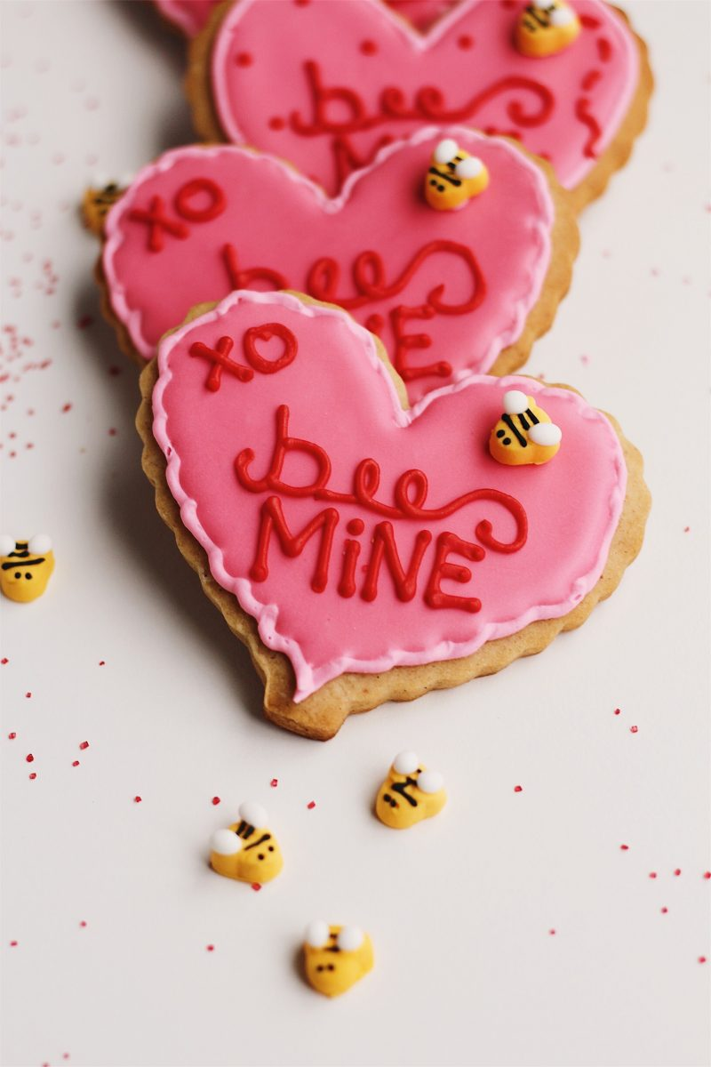 'Bee Mine' Honey Cardamom Heart Cookies