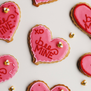 Honey Cardamom Heart Cookies