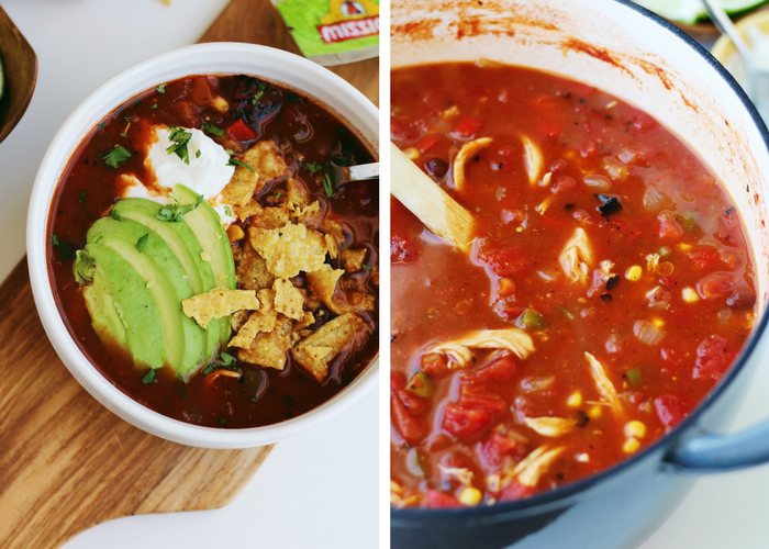 Quick and Easy Spicy Chicken Tortilla Soup