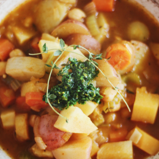 Rustic Vegan Irish Stew with Orange Gremolata