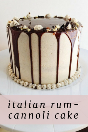 Italian Cannoli Cake
