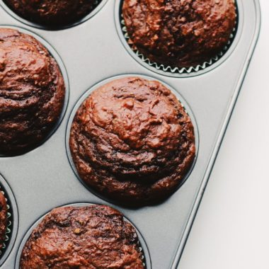 Almond Butter Chocolate Protein Muffins