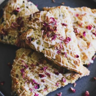 Blueberry Rose Scones (Plus: How to Host a Tea Party)