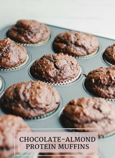 Chocolate Almond Protein Muffins