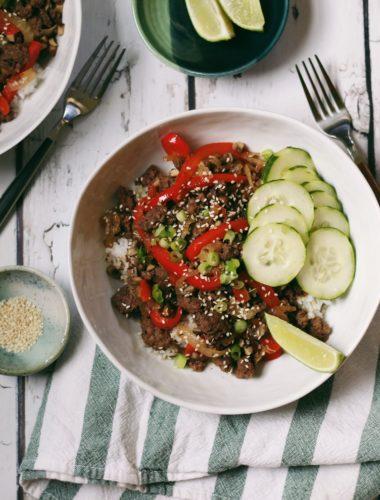Healthier Korean Beef Bowls