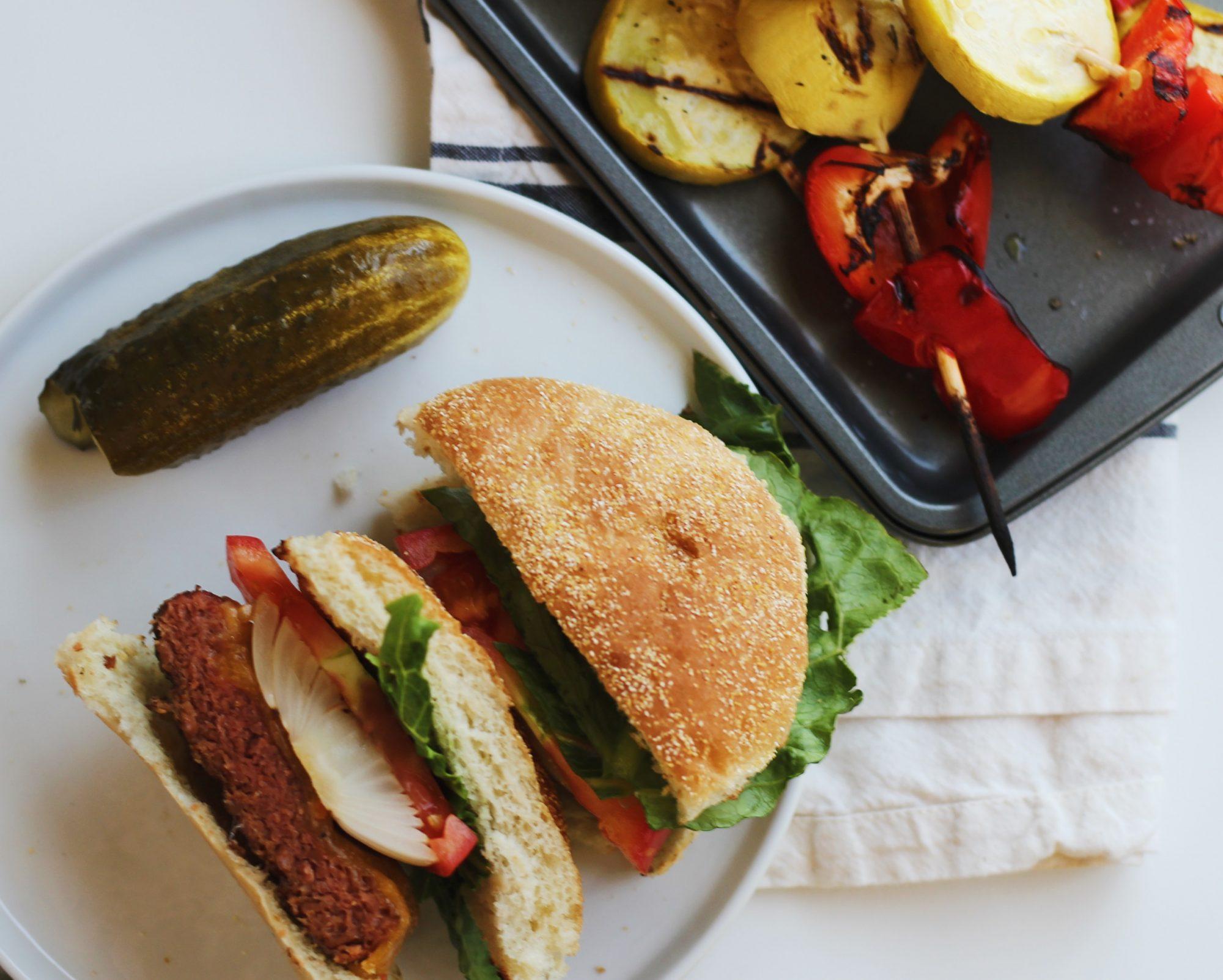 vegetarian BBQ recipes and Beyond Burger