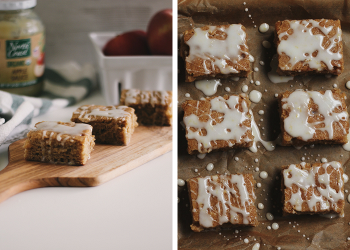 Apple Blondies with Hot Toddy Glaze