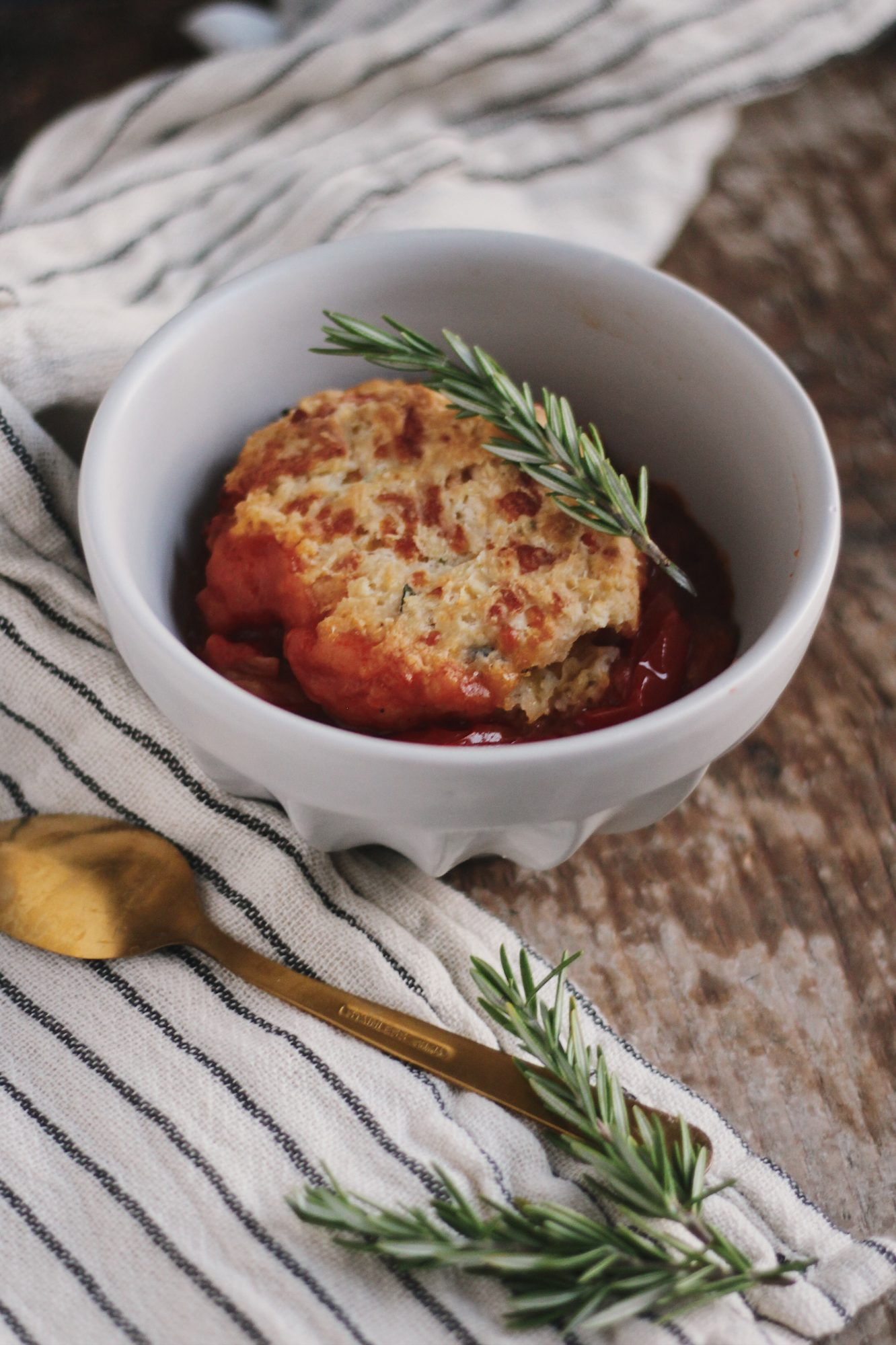 Tomato Cobbler with Cheddar Herb Biscuits