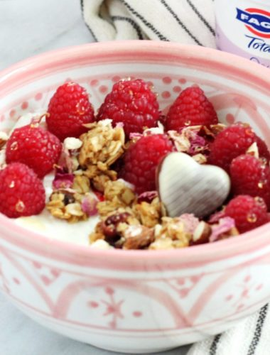 Yogurt Bowls with Raspberry-Rose Compote
