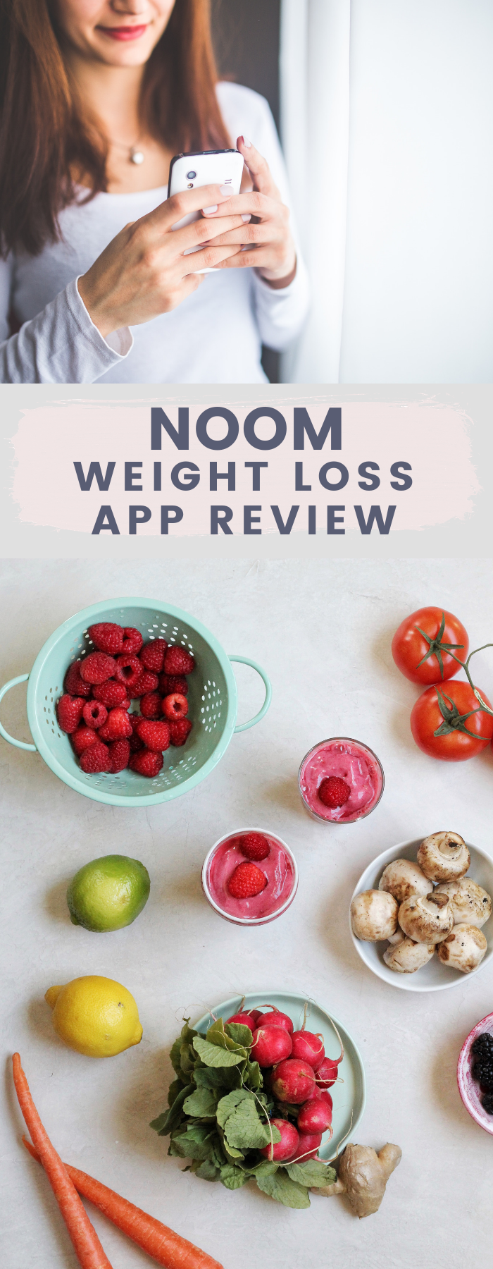 I tried Noom, the popular health and weight loss smartphone app, for 3 weeks. Read this post for an honest and thorough Noom review, and a delicious and refreshing Tropical Raspberry Smoothie from Noom!