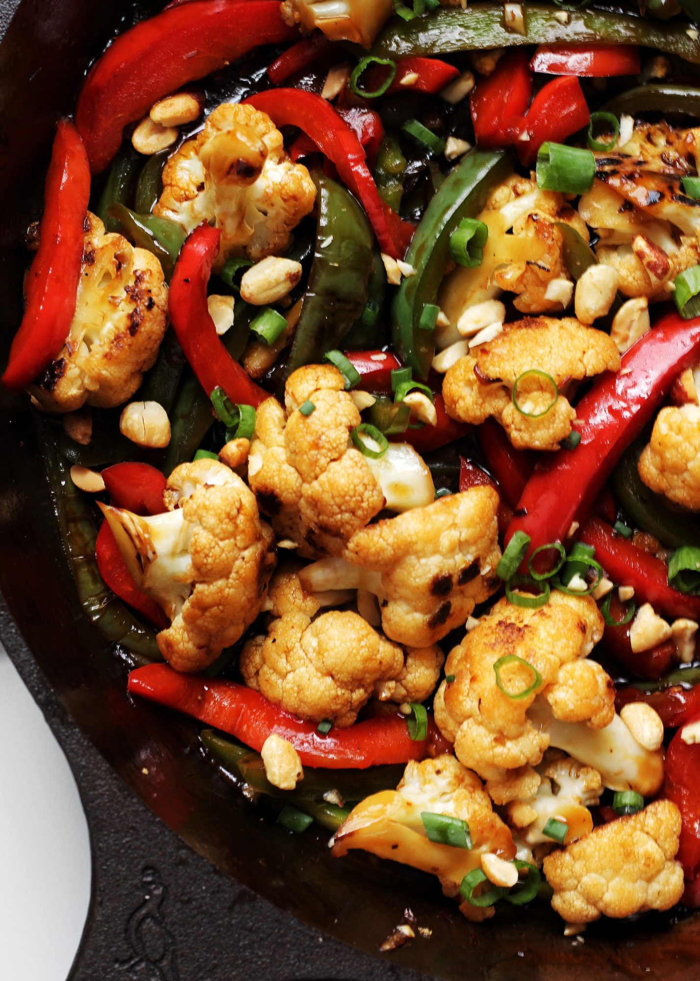 This Kung Pao Cauliflower is spicy, flavorful, and completely vegan