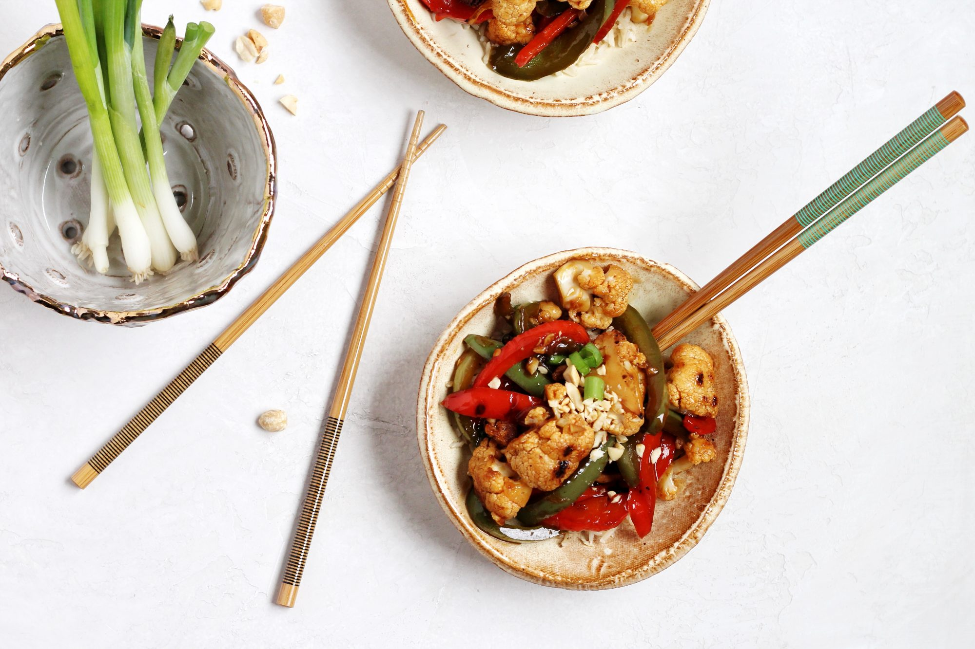 Vegan and gluten-free Kung Pao Cauliflower is a quick and tasty meal