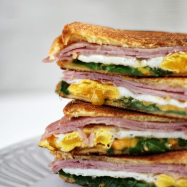 This grilled ham and cheese makes a delicious brunch
