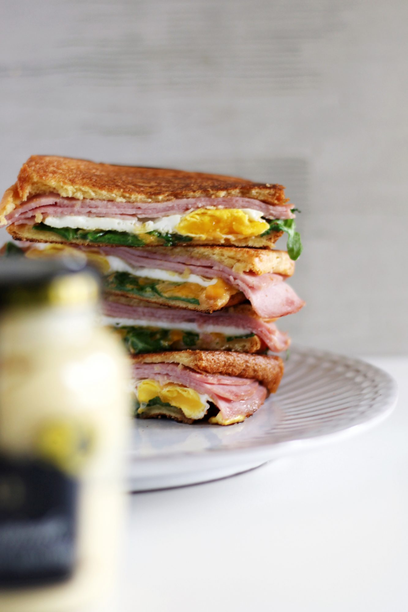 The best grilled ham and cheese sandwich!