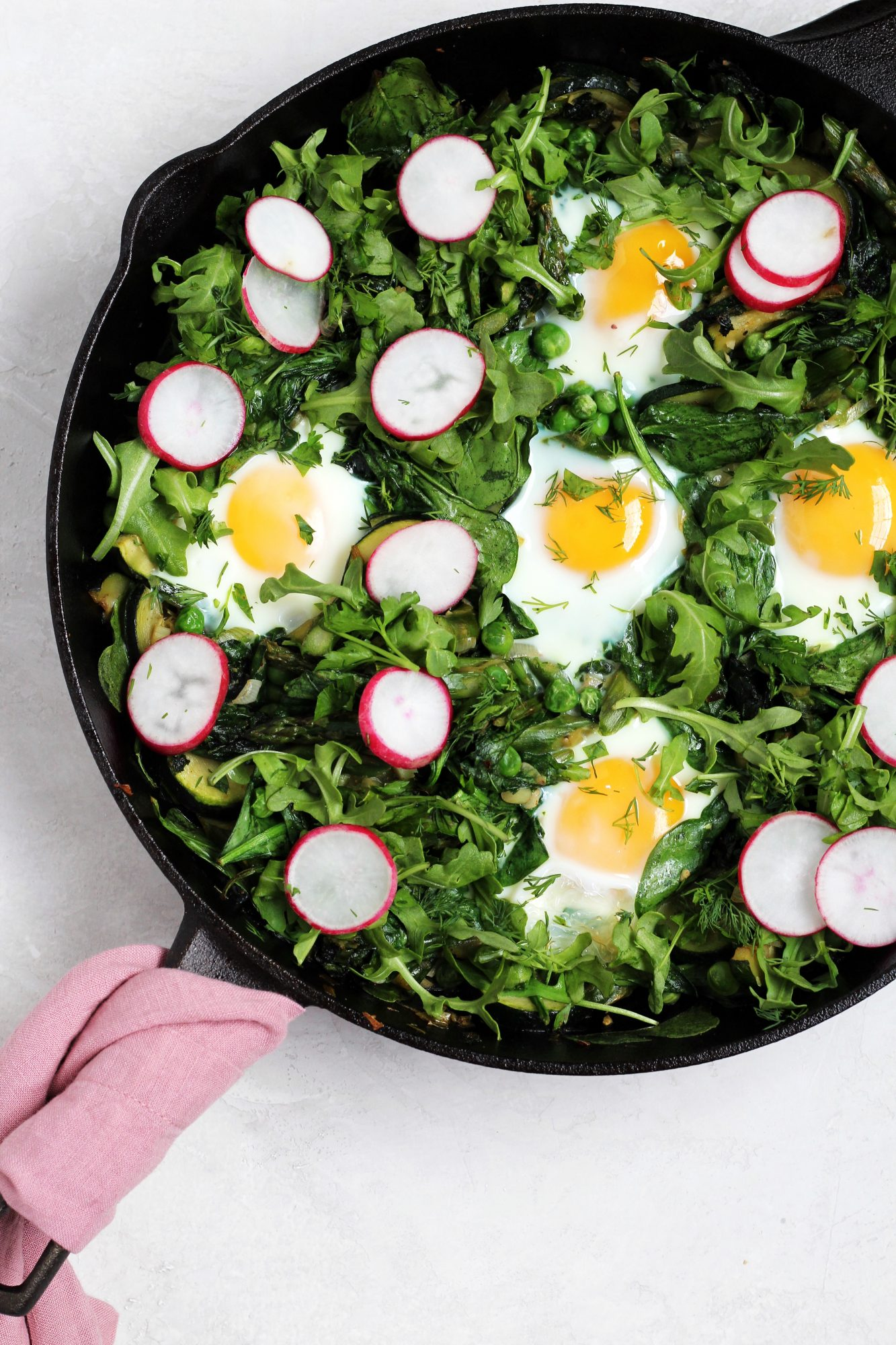 This Spring Shakshuka is bright, fresh, and green!
