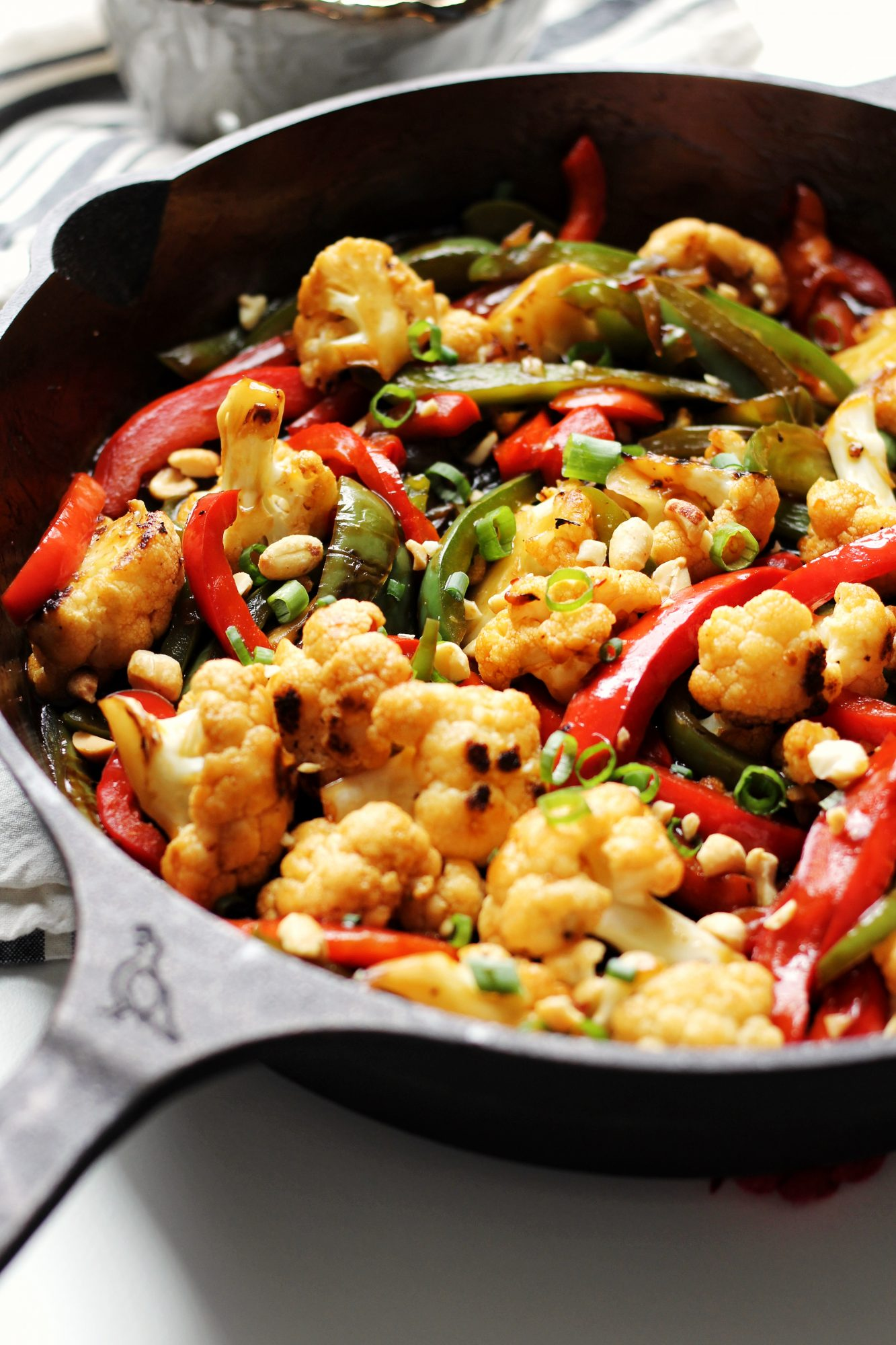 Kung Pao Cauliflower is vegan, gluten-free, and an easy weeknight meal