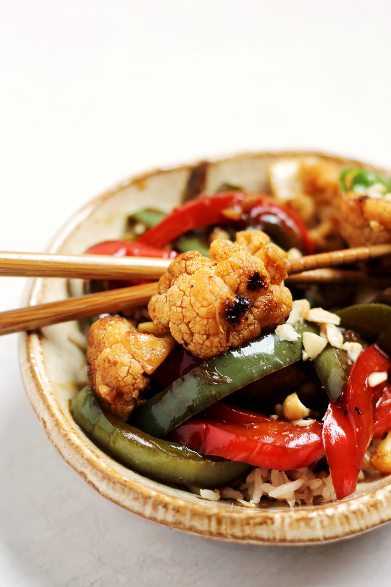 A healthier spin on take-out: Vegan Kung Pao Cauliflower
