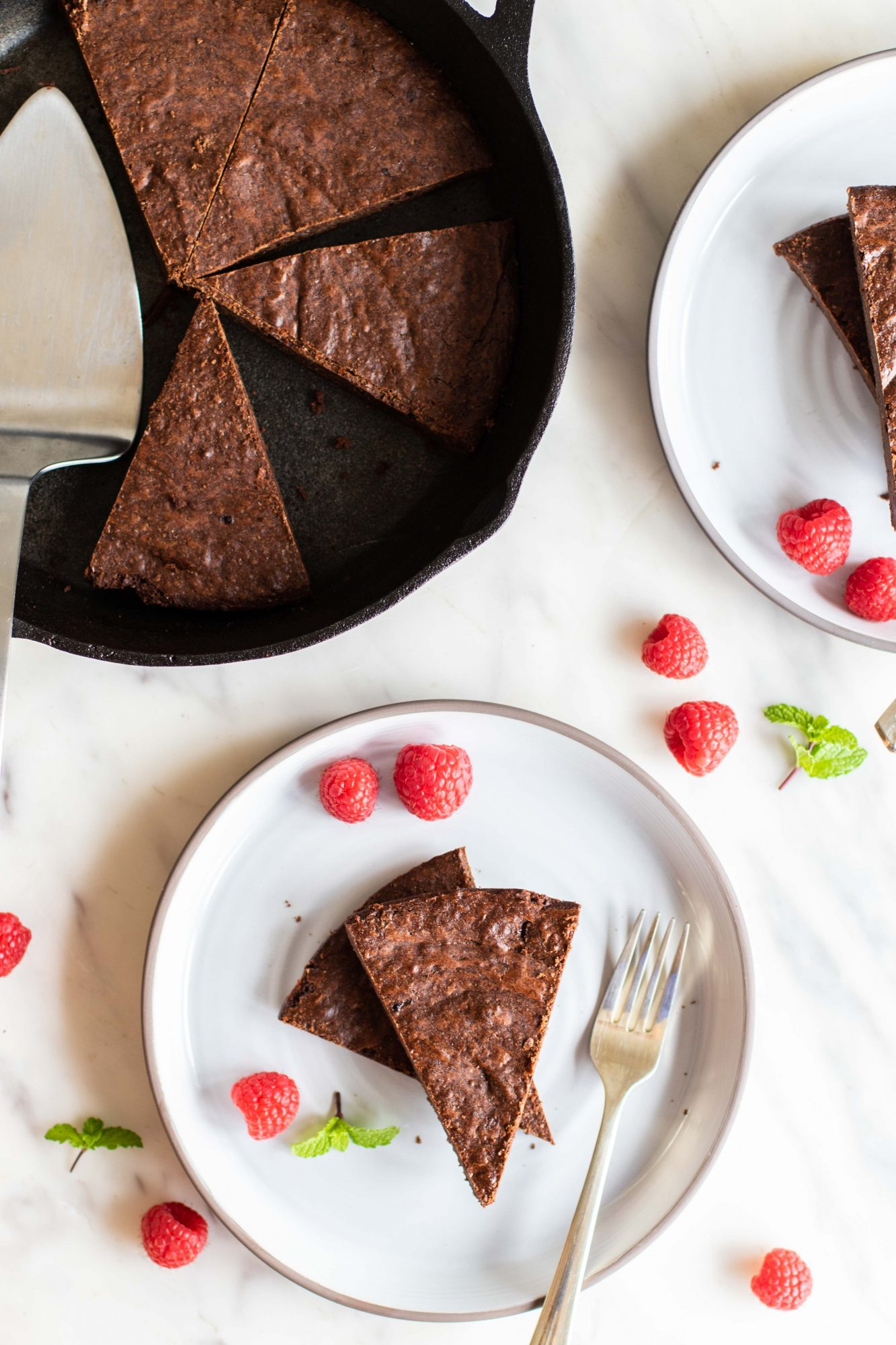 Skillet brownies are a delicious cast iron dessert