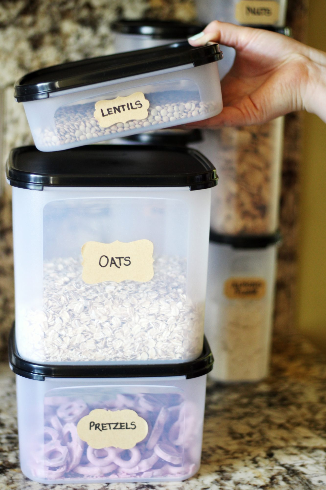 Keep an organized pantry for easier meal prep