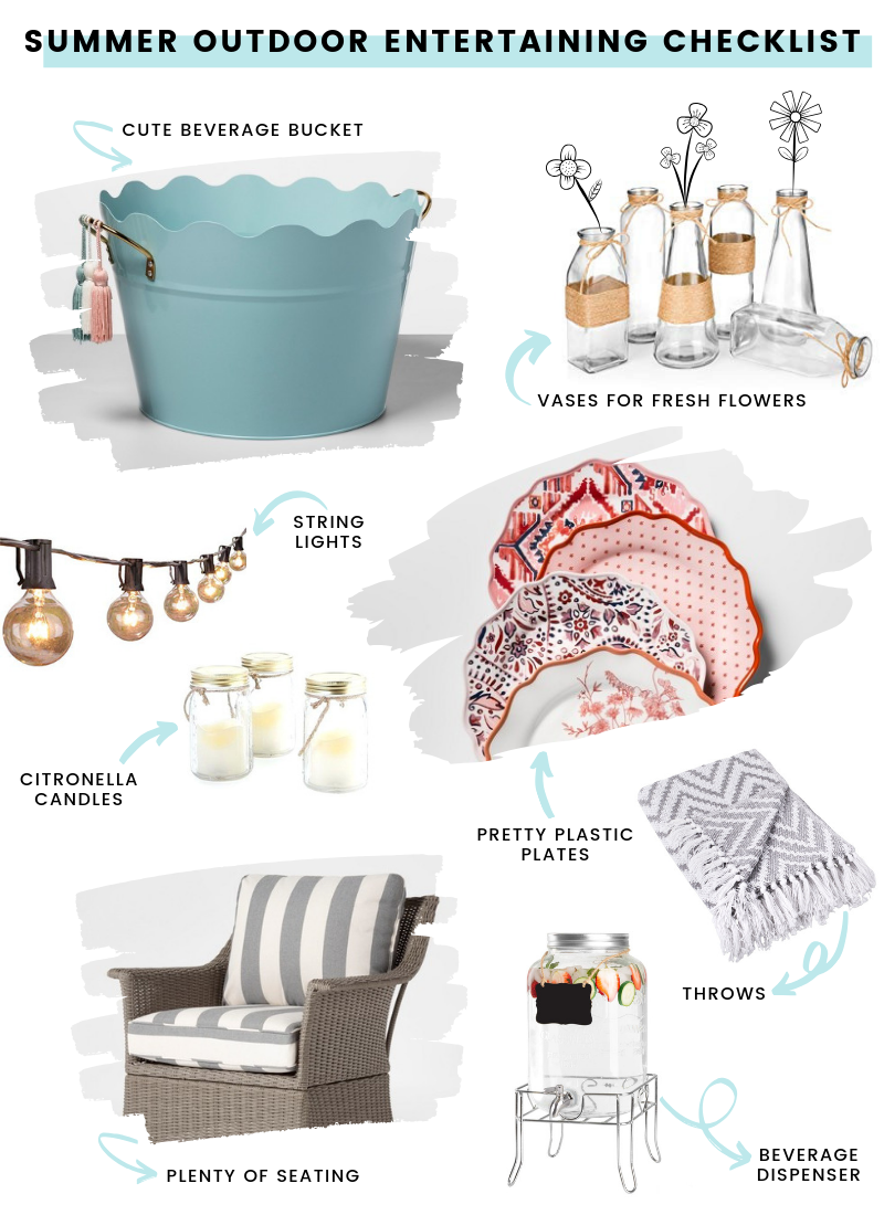 Summer Outdoor Entertaining Tips that are effortless, inexpensive, and adorable!