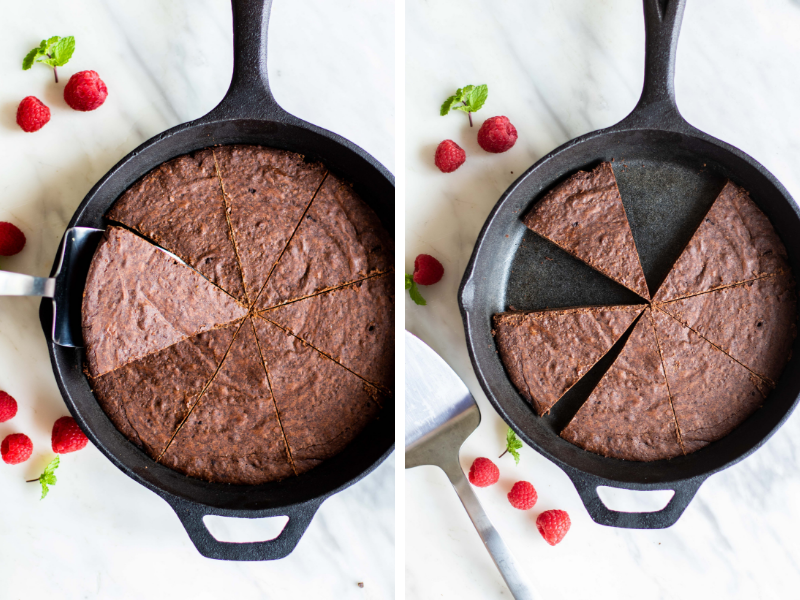 Try making brownies in a cast iron skillet!