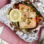 Honey Mustard Grilled Salmon Foil Packets are a delicious meal under 30 minutes.
