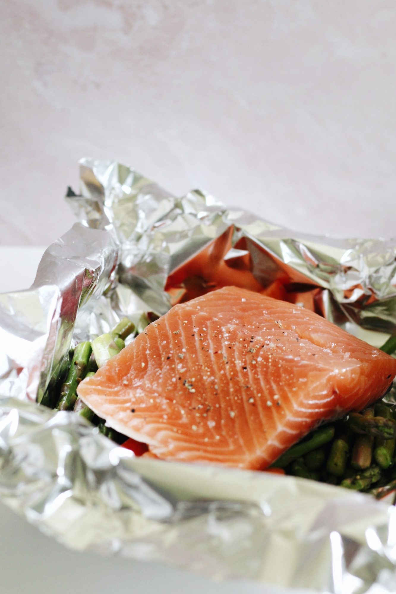 Salmon in foil packets are a quick, easy, and mess-free way of cooking.