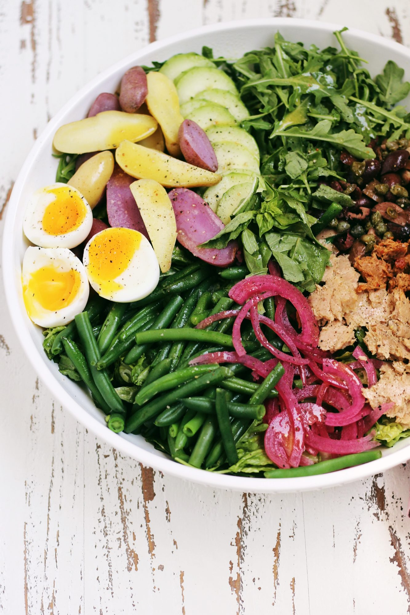 A quick and easy Nicoise Salad is full of protein and healthy fats