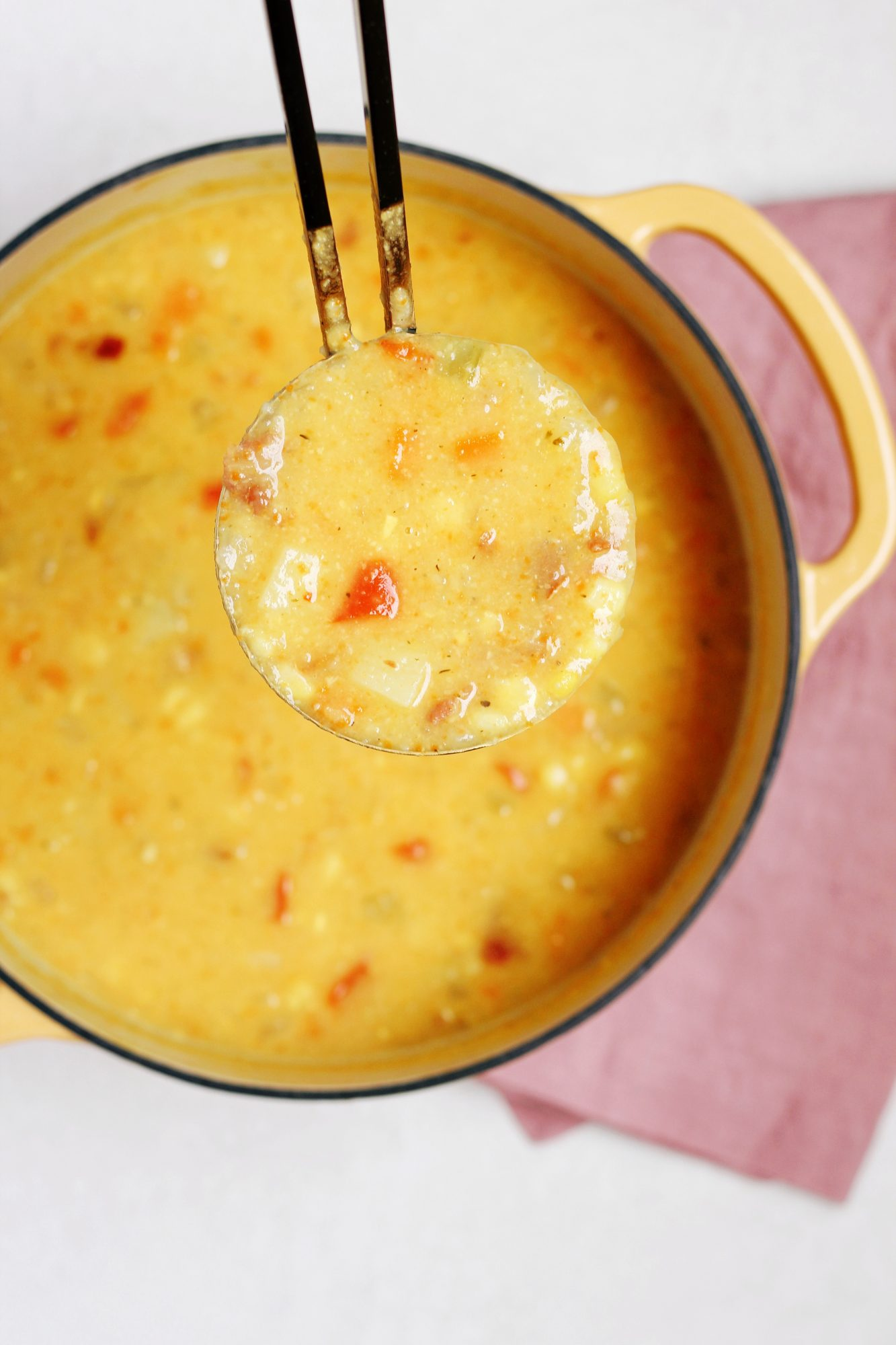 Potato Corn Chowder with Crispy Ham (Dairy-Free)