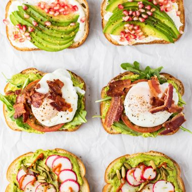 avocado toast variations from sweet to spicy